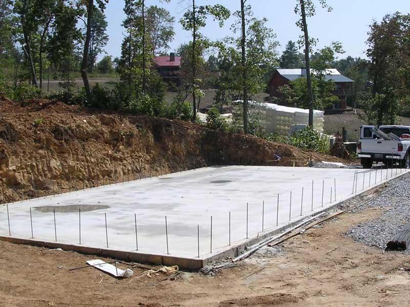 Construcci n de radier construccion radier en casas for Stima del costo del garage gratuita