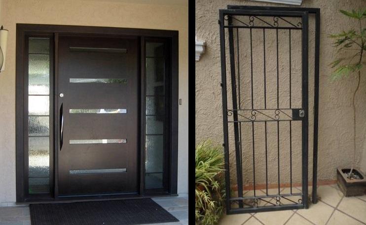 Puertas de protecci n protecci n para puertas - Puertas de seguridad para casas ...